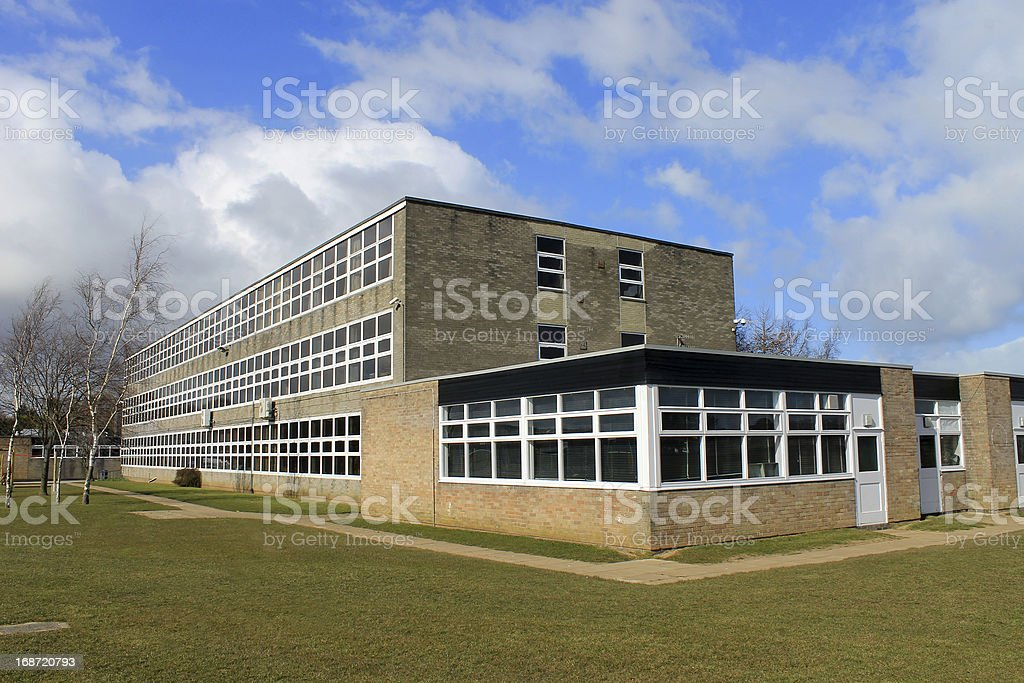English school building stock photo