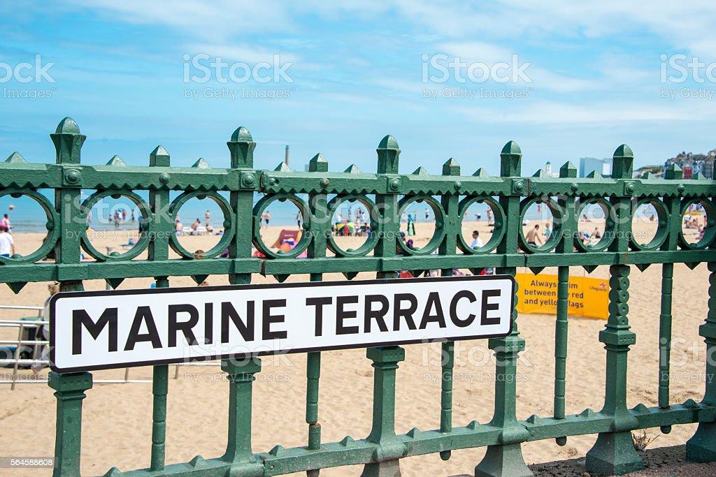 English seaside stock photo