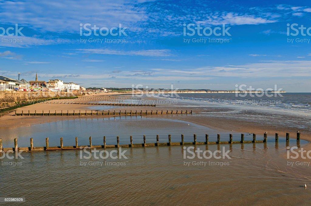 English Seaside Resort Low Tide stock photo