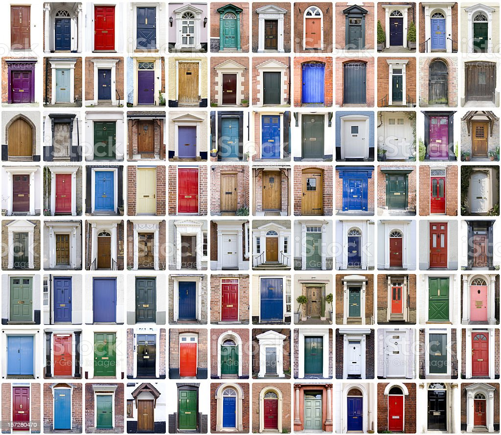 English Shire Doors  Architecture Stock Photo