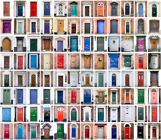 English Shire Doors stock photo