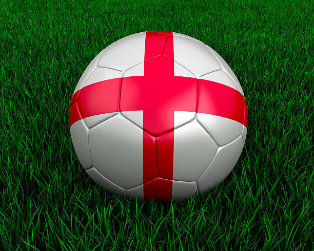 English soccer ball stock photo