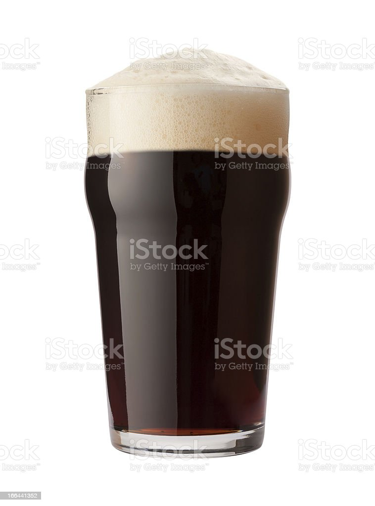 English Stout Beer with clipping path stock photo
