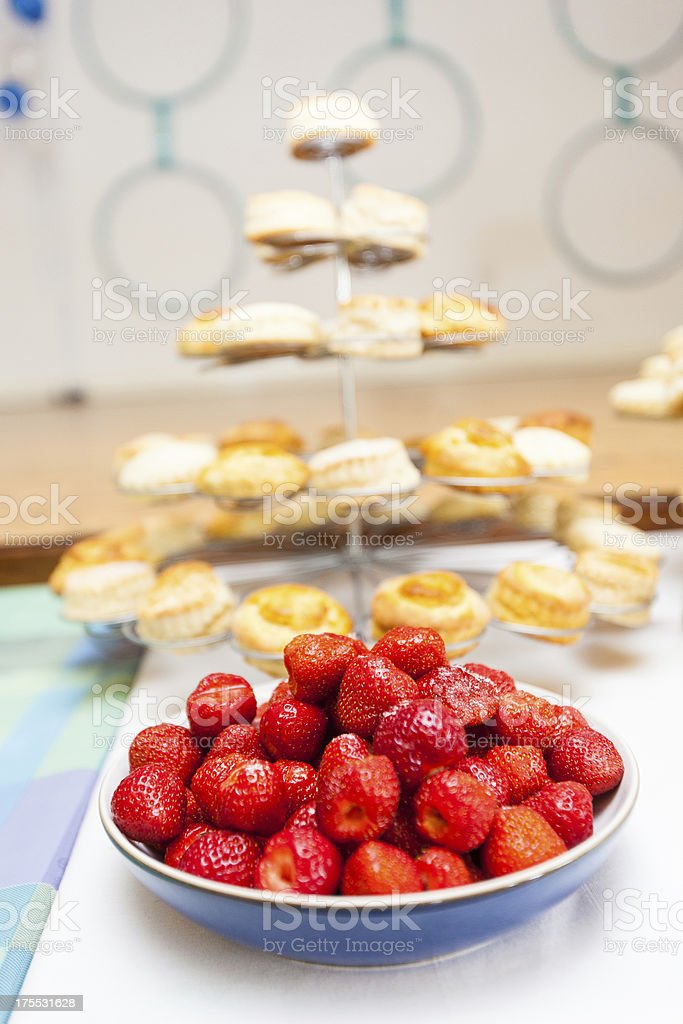 English Strawberries and Scones stock photo