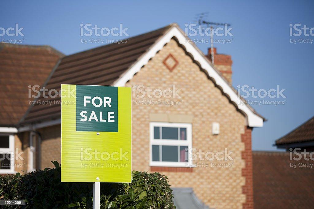 English suburban house for sale. royalty-free stock photo