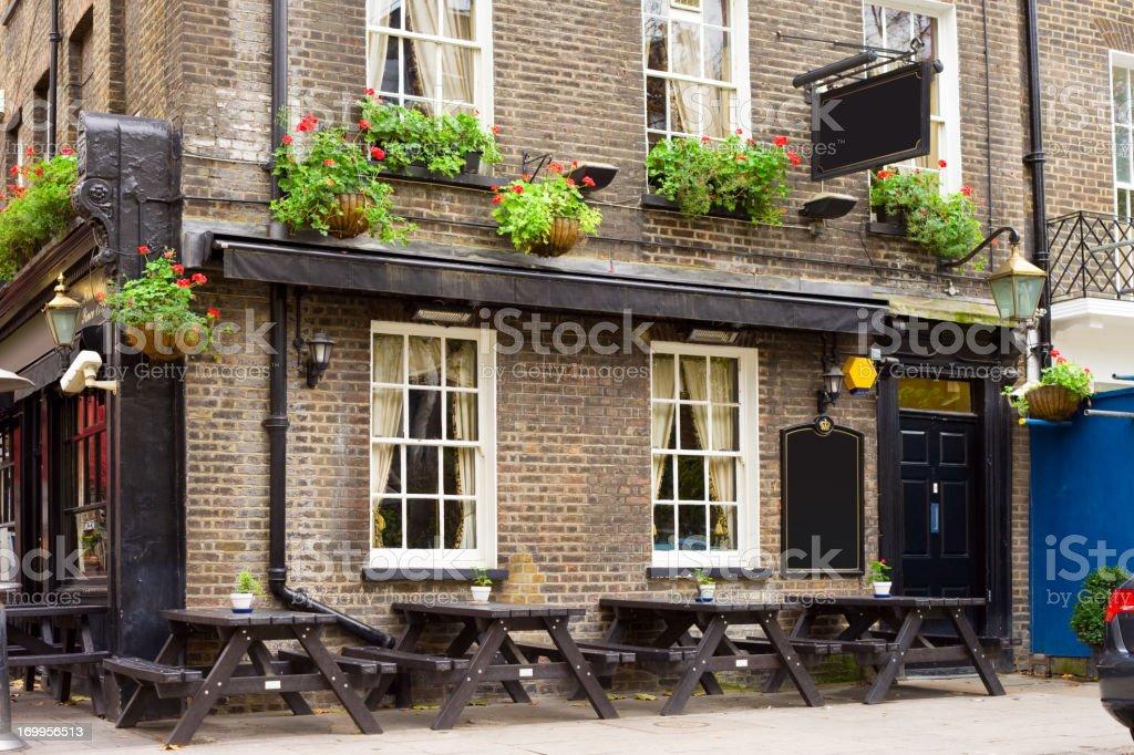 English Tavern, Pub stock photo