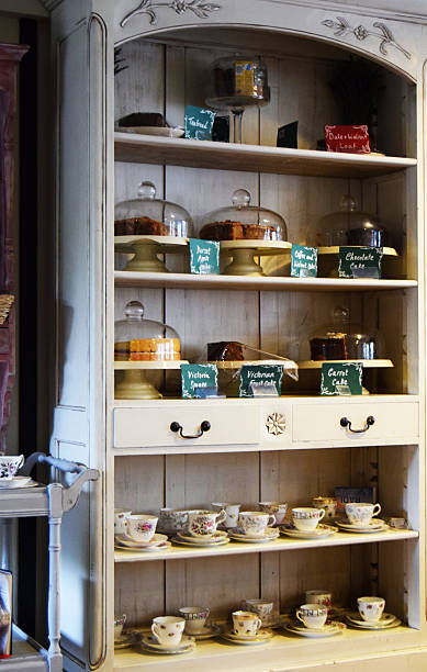 tea-zimmer - teeladen stock-fotos und bilder