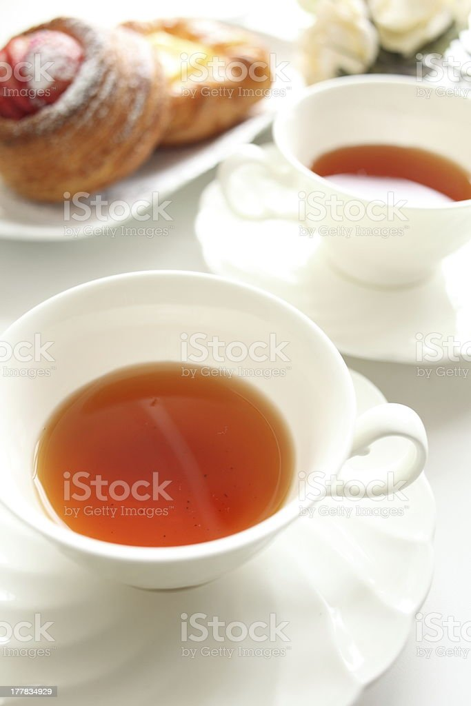 English tea with pastry royalty-free stock photo