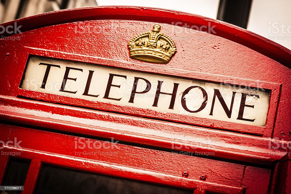 English Telephone Booth, London royalty-free stock photo