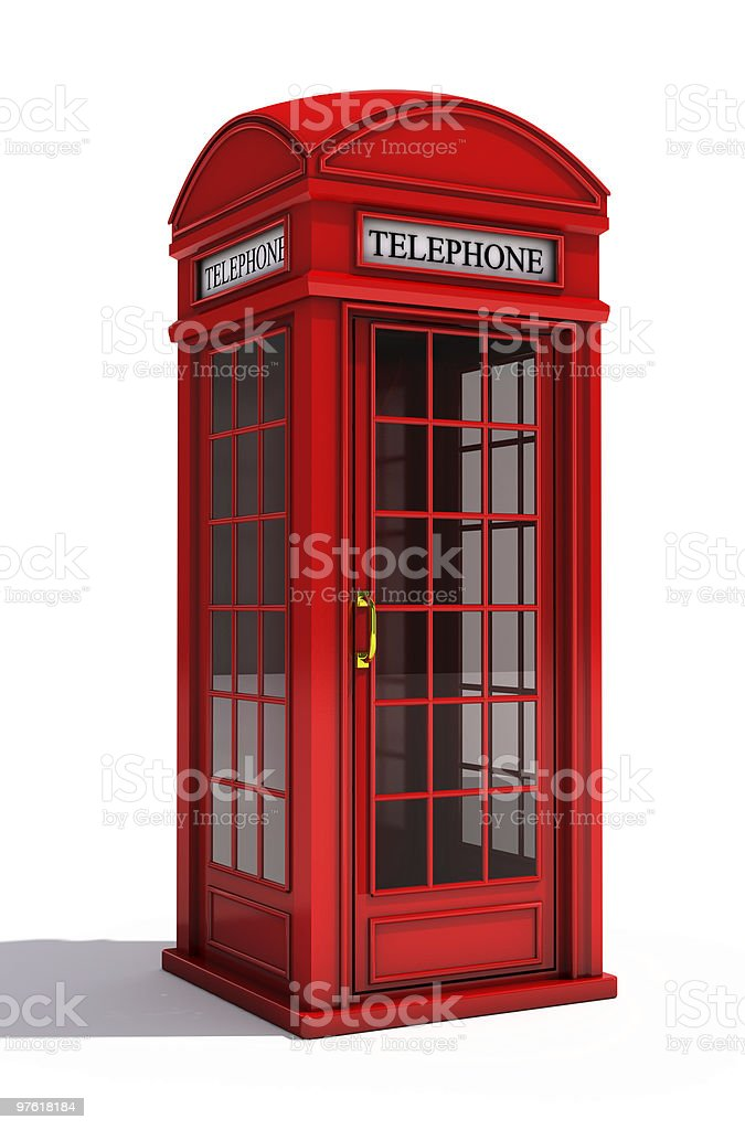 English telephone booth royalty-free stock photo