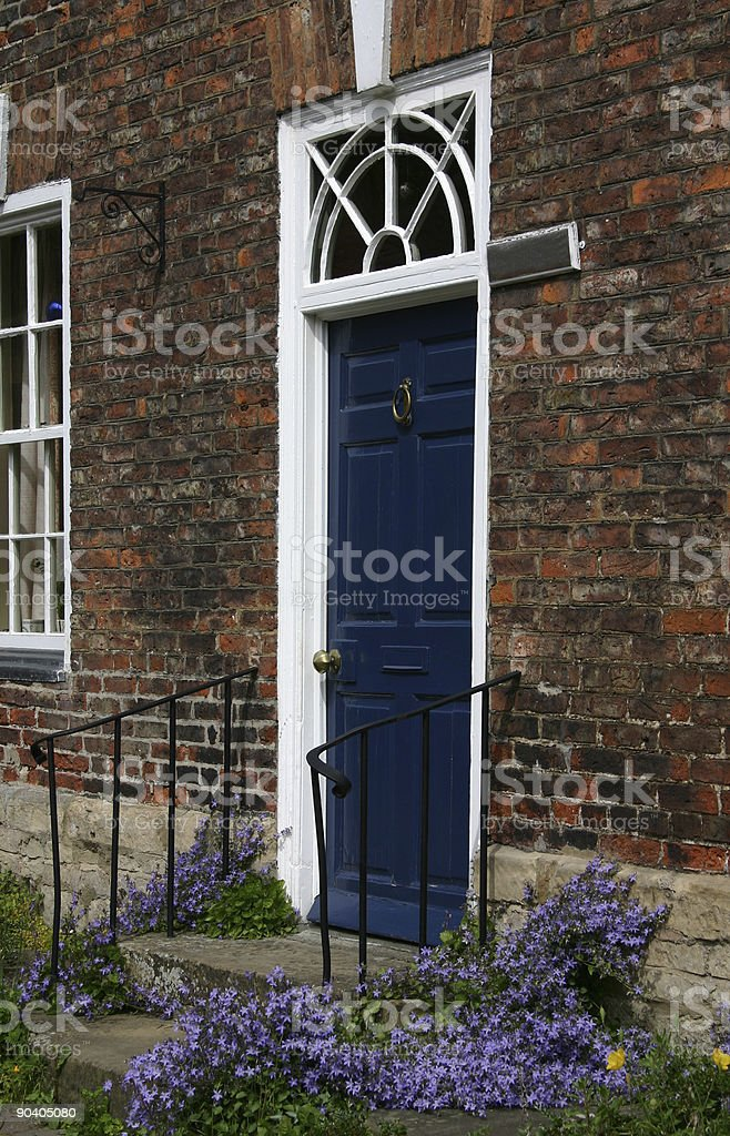 English traditional door royalty-free stock photo