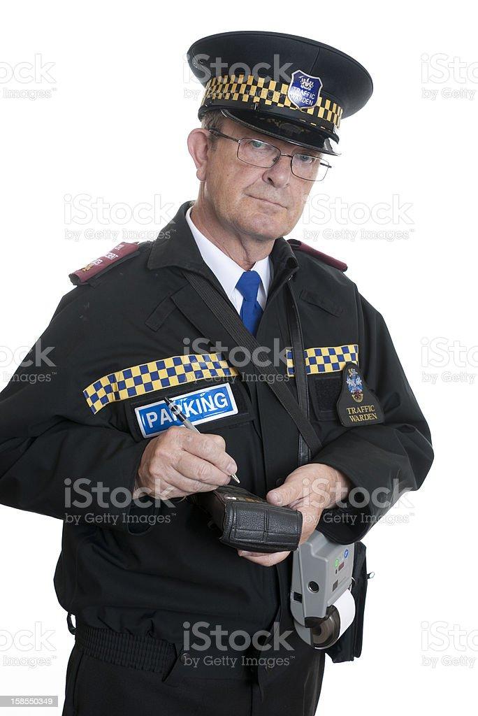 English Traffic warden stock photo