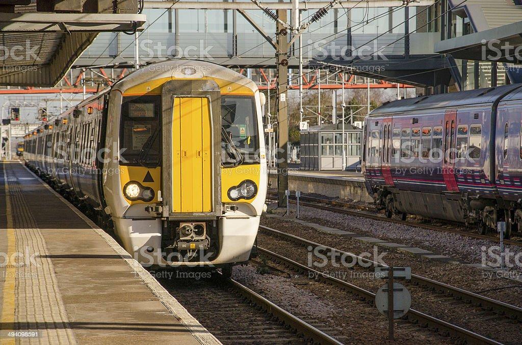 English trains stock photo