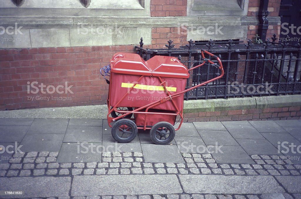 English trolleys for delivering the post royalty-free stock photo