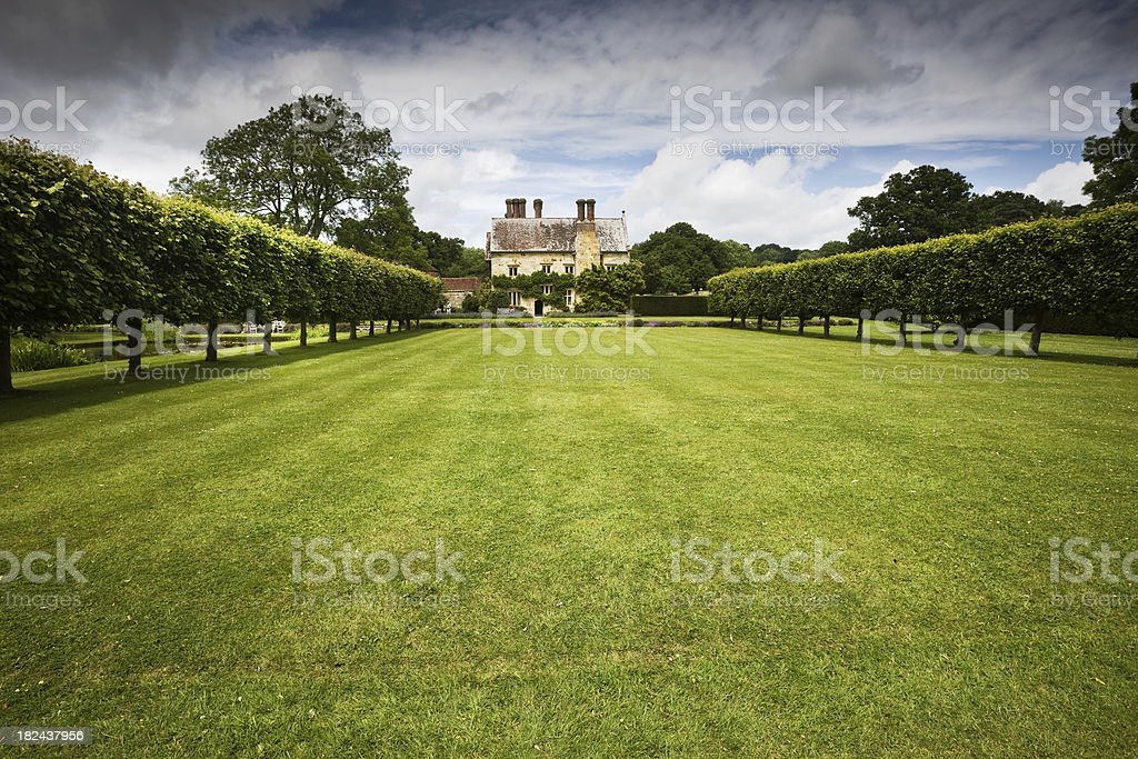 English Tudor Mansion and Grounds royalty-free stock photo