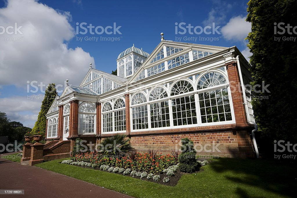 English Victorian Conservatory stock photo