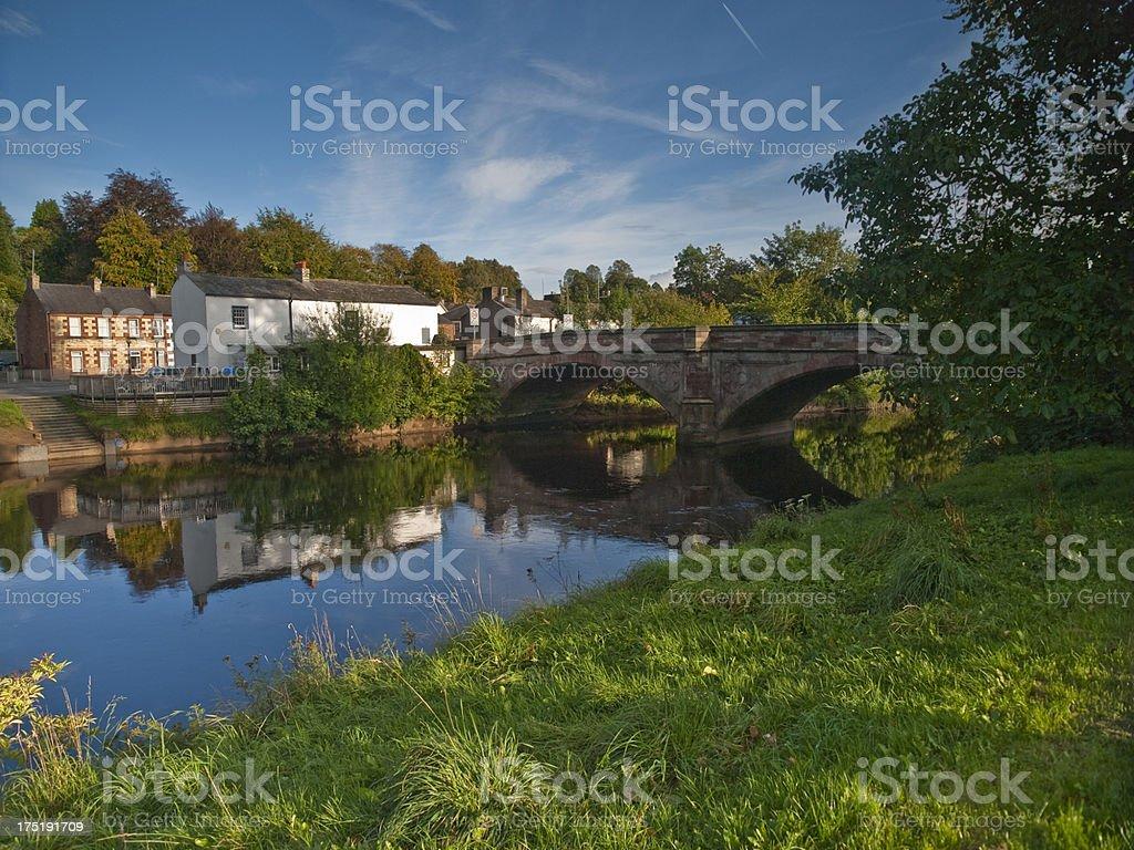 English Village Bridge royalty-free stock photo