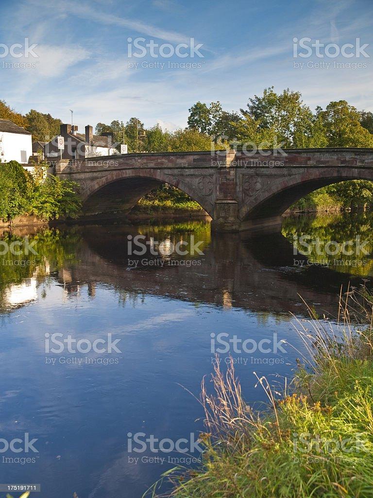 English Village Bridge stock photo