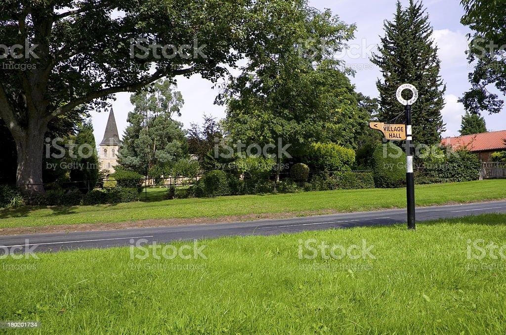English Village Green royalty-free stock photo
