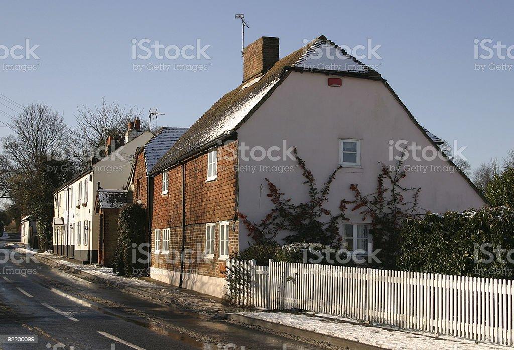 English Village Street scene stock photo