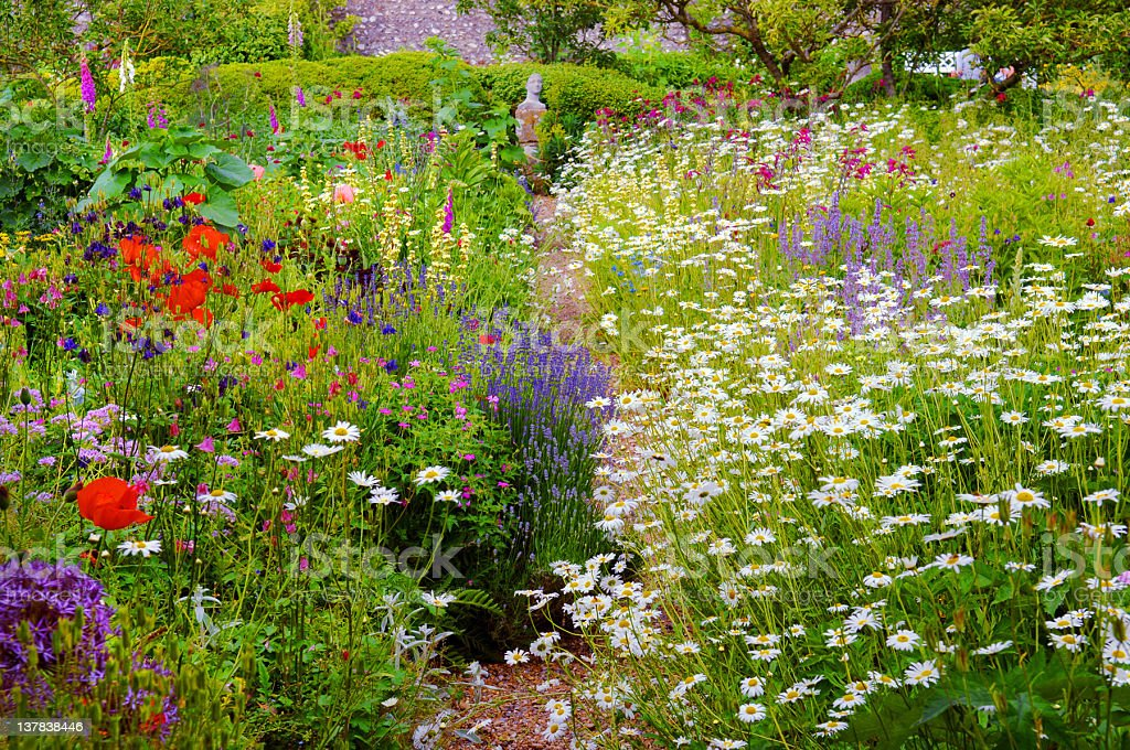 English Walled Garden stock photo