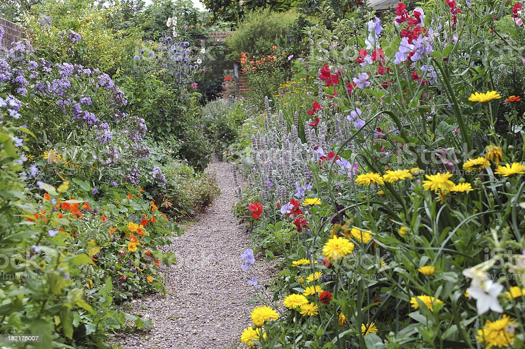 English Walled Garden stock photo