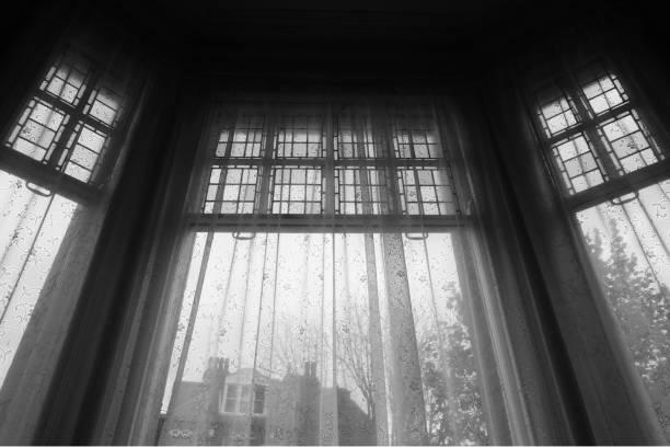 English window stock photo