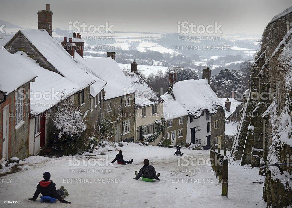 English Winter Scene stock photo