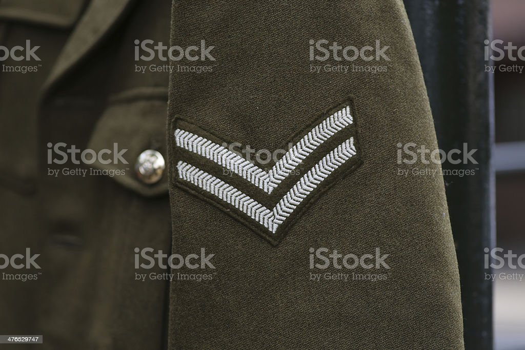English WWII Corporal Rank royalty-free stock photo