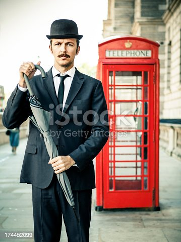 Englishman with Red Telephone Box