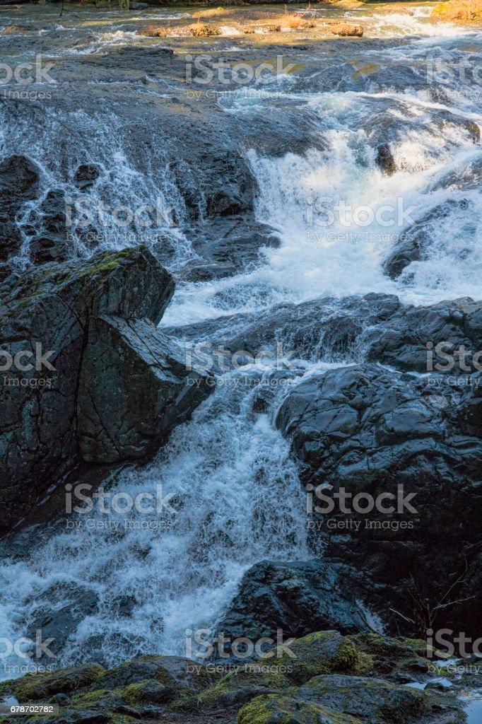 Englishman River Falls, British Columbia, Canada stock photo