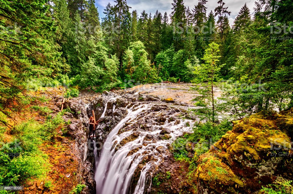 Englishman River Falls Provincial Park stock photo