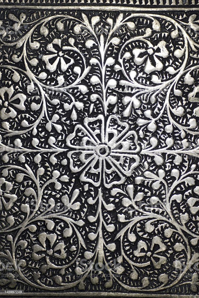 Engraved Floral Pattern 2 royalty-free stock photo