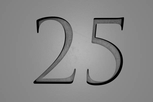 engraved number - stone font stock photos and pictures