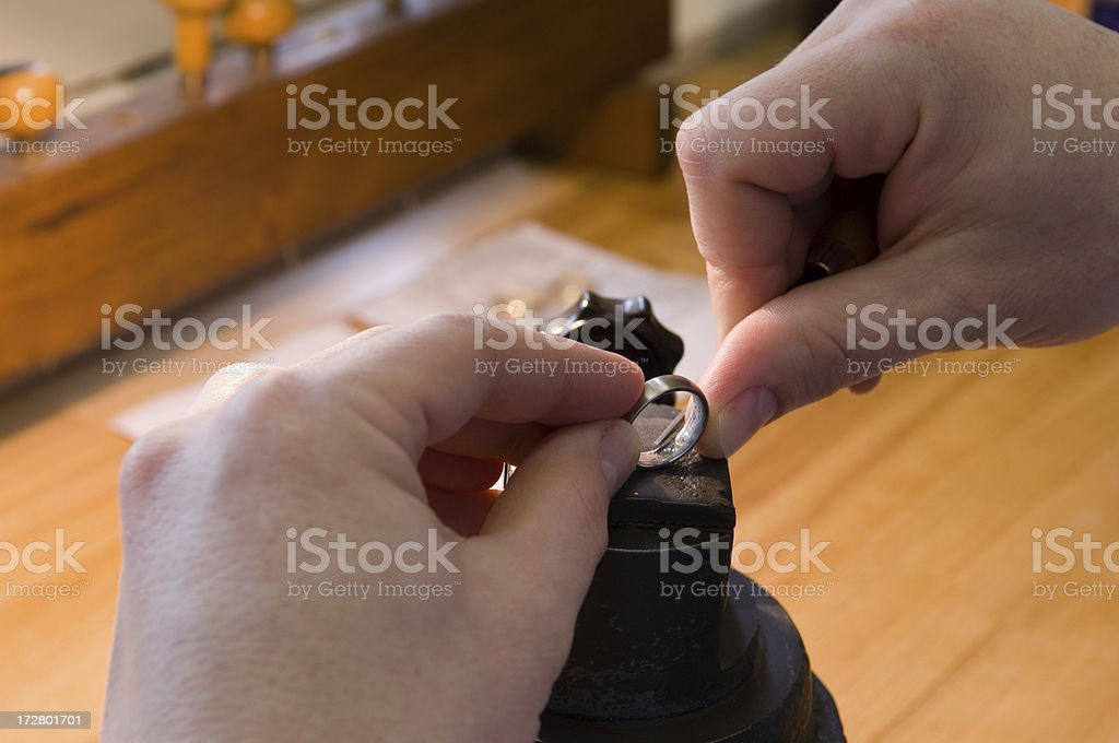 Engraver stock photo
