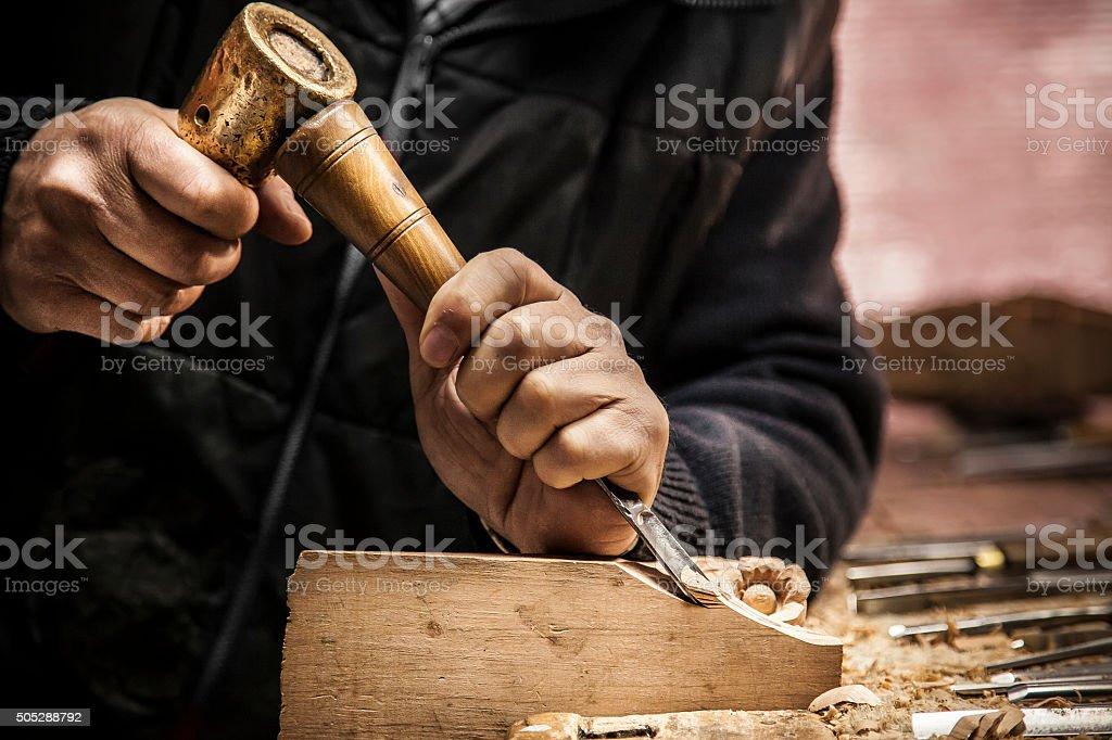 Engraver-Holz Arbeiten – Foto