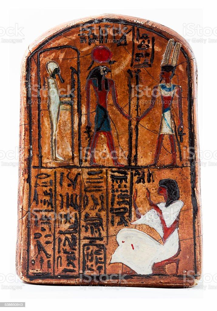 Engraving egyptian stock photo