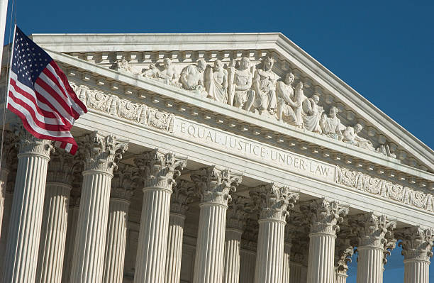 engraving of justice principals of supreme court - abd yüksek mahkemesi binası stok fotoğraflar ve resimler