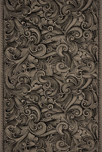 Engraving Pattern stock photo