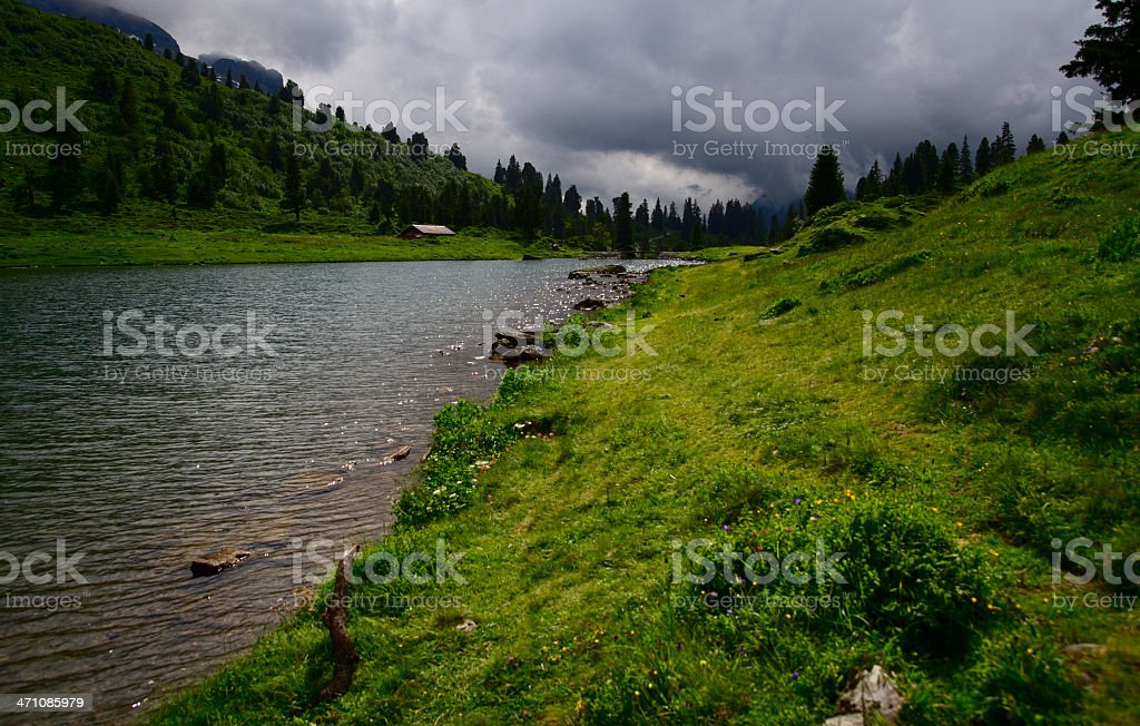 Engstlen Lake royalty-free stock photo