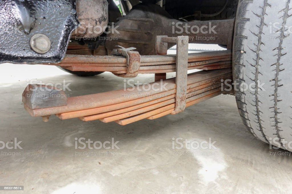 Enhance Leaf Spring In Car Stock Photo - Download Image Now