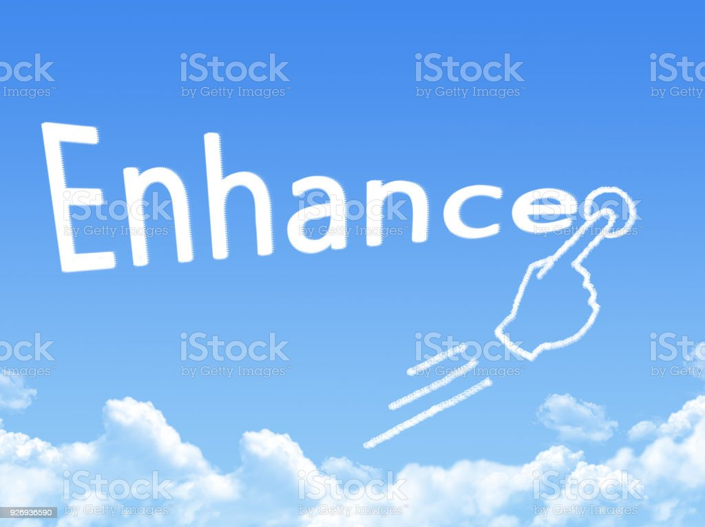 enhance message cloud shape stock photo
