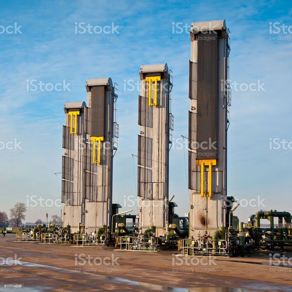 Enhanced Oil Recovery stock photo