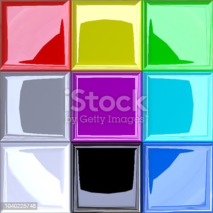 istock 3D Enhanced RGB Additive Color Modell / Palette 1040225748