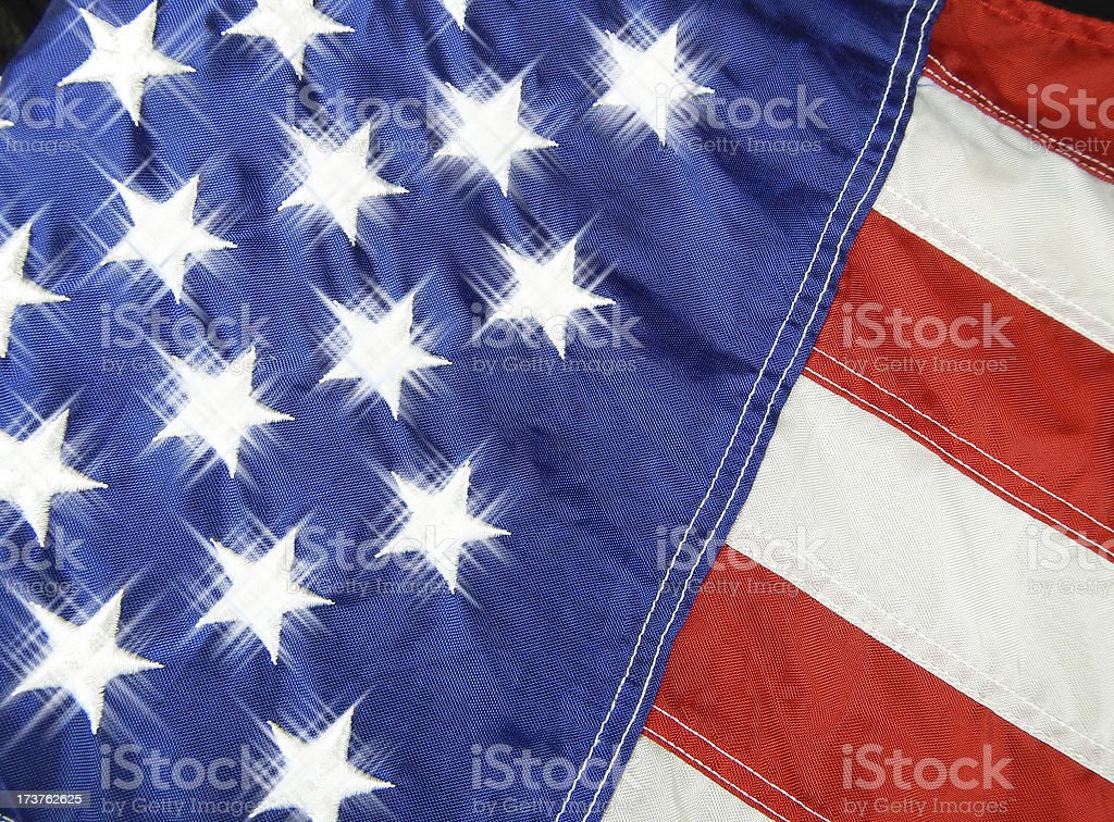 Enhanced Stars of the United States Flag royalty-free stock photo