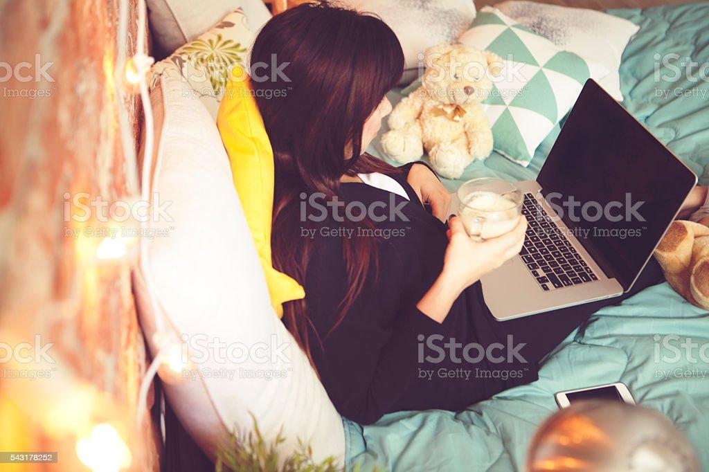 Enjoy at home stock photo