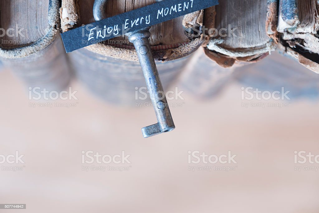 Enjoy every moment idea stock photo