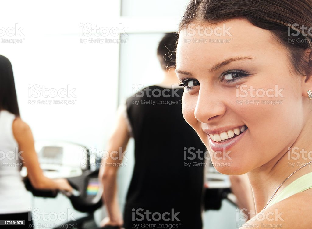 Enjoy in workout at the gym royalty-free stock photo