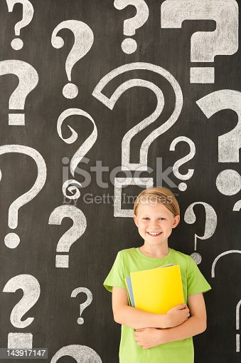 Enjoy learning... happy young child holding books stood in front of a huge blackboard with hand drawn question mark symbols.  [url=http://www.istockphoto.com/search/lightbox/10930421] [img]http://www.primarypicture.com/iStock/IS_Chalkboard.jpg[/img][/url] [url=http://www.istockphoto.com/search/lightbox/13181369] [img]http://www.primarypicture.com/iStock/IS_Typographic.jpg[/img][/url] [url=http://www.istockphoto.com/search/lightbox/10074747] [img]http://www.primarypicture.com/iStock/IS_Labels.jpg[/img][/url]