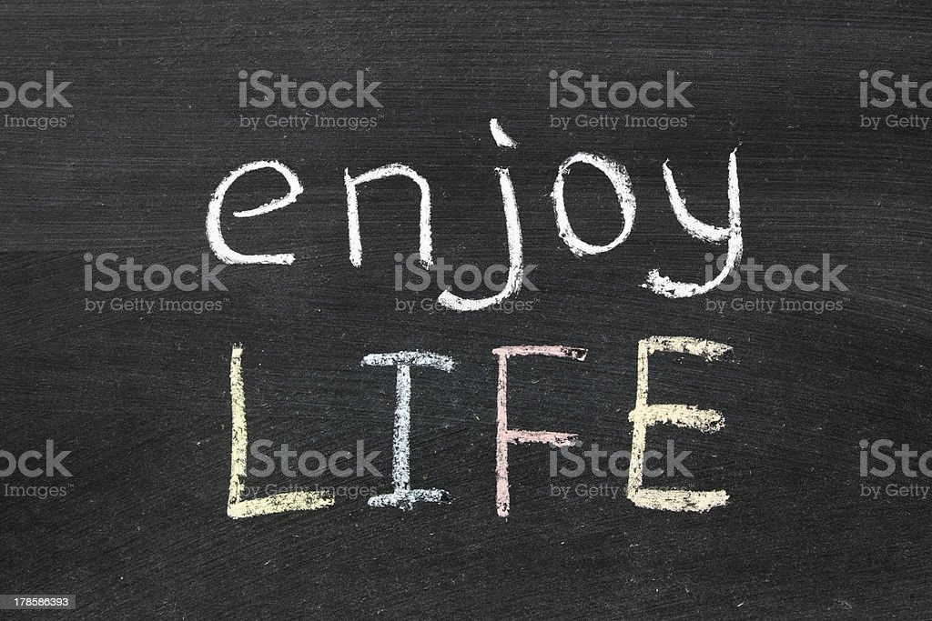enjoy life royalty-free stock photo